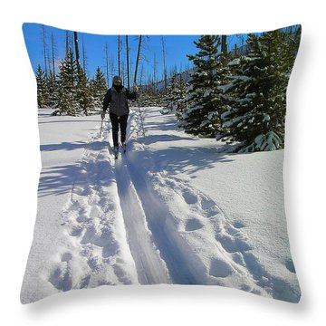 Cross Country Yellowstone Throw Pillow