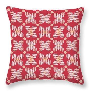 Cross Cross Diamonds Spice- Art By Linda Woods Throw Pillow