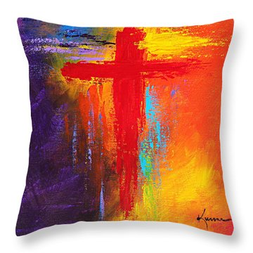 Cross No.1 Throw Pillow