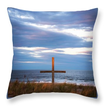 Cross Light Square Throw Pillow by Terry DeLuco