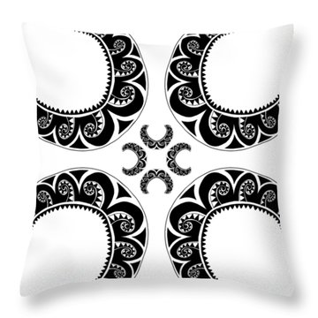 Cross Maori Style Throw Pillow