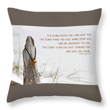 Cross Necklace Throw Pillow