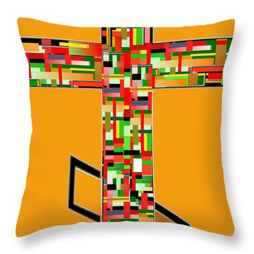 Cross No. 5 Throw Pillow