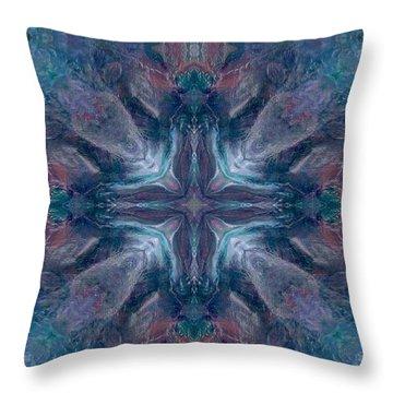 Cross Of Mentors Throw Pillow by Maria Watt