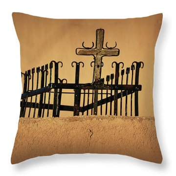 Cross Of San Jose De Gracia Throw Pillow