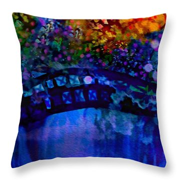 Cross Over The Bridge Throw Pillow by Sherri's Of Palm Springs