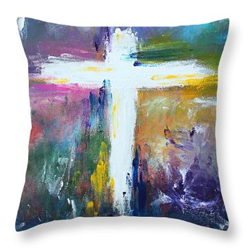 Cross No.6 Throw Pillow