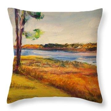 Cross Ranch State Park Throw Pillow
