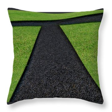 Throw Pillow featuring the photograph Cross Roads by Paul Wear