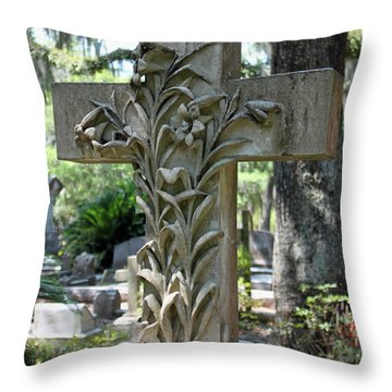 Cross Series IIi Throw Pillow by Suzanne Gaff