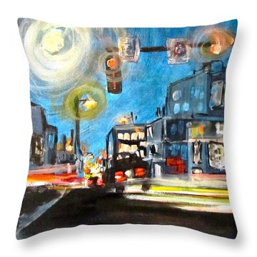 Cross Traffic Throw Pillow