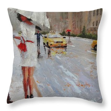 Cross Walk Throw Pillow by Laura Lee Zanghetti