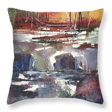 Crosscurrents Throw Pillow by Madelaine Alter