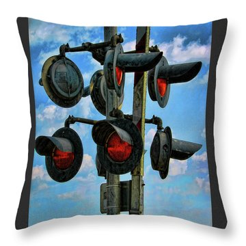 Crossed Signals Throw Pillow