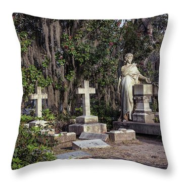 Throw Pillow featuring the photograph Crosses Three by Kim Hojnacki