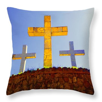 Crosses To Bear Throw Pillow