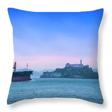 Crossing Alcatraz Throw Pillow