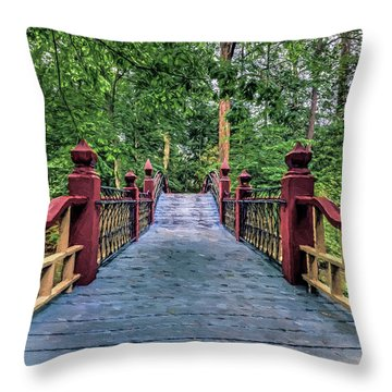 Crossing Crim Dell In Spring Throw Pillow