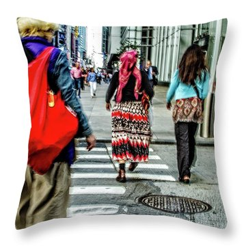 Throw Pillow featuring the photograph Crossing by Karol Livote