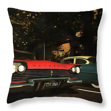 Crossing Oldtimers Throw Pillow
