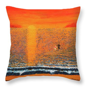 Crossing Over Throw Pillow by Thomas Blood