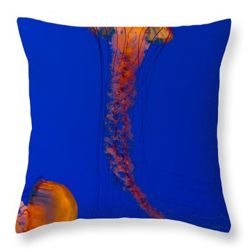 Crossing Pacific Sea Nettles 2 Throw Pillow