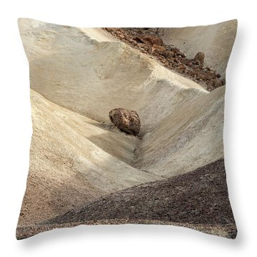 Throw Pillow featuring the photograph Crossing Paths - Death Valley by Sandra Bronstein