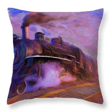 Crossing Rails Throw Pillow