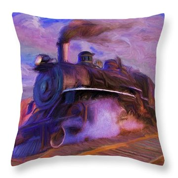 Crossing Rails Throw Pillow