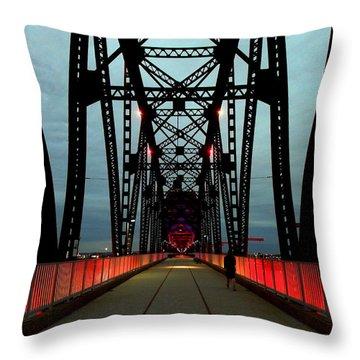 Crossing The Bridge Throw Pillow