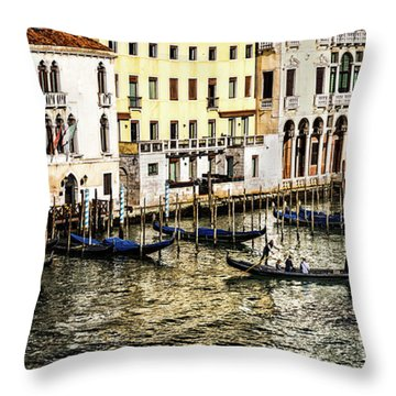 Crossing The Canal Throw Pillow