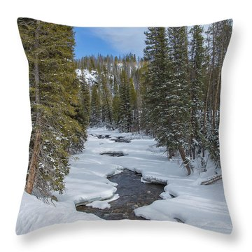 Crossing The Elk Throw Pillow