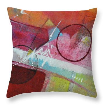 Throw Pillow featuring the painting Crossing The Line by Kate Word