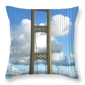 Crossing The Mighty Mac Throw Pillow