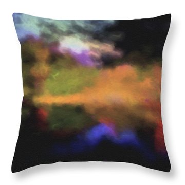Crossing The Threshold Throw Pillow by William Horden