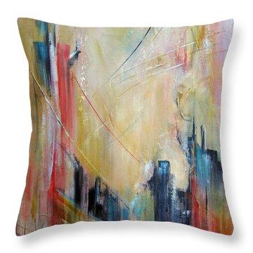 Crossings Throw Pillow by Roberta Rotunda