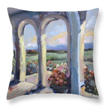 Crosskeys Vineyards In Virginia Throw Pillow