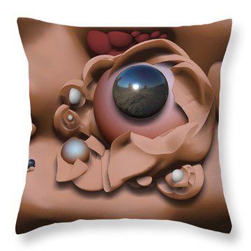 ' Cross Pollenation ' Throw Pillow