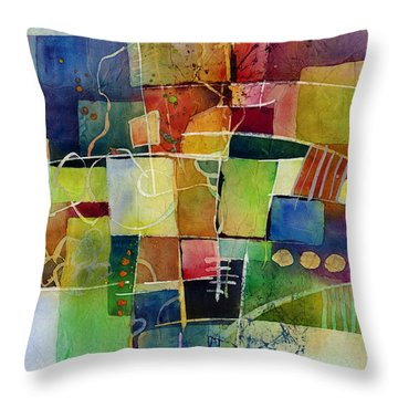 Crossroads 2 Throw Pillow by Hailey E Herrera