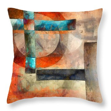 Crossroads Abstract Throw Pillow