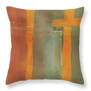 Throw Pillow featuring the mixed media Crossroads by Eduardo Tavares