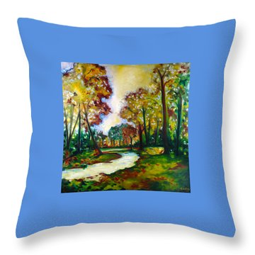 Throw Pillow featuring the painting Crossroads by Emery Franklin