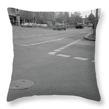 Crossroads In Prenzlauer Berg Throw Pillow