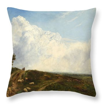 Crossroads Over The Heath Throw Pillow