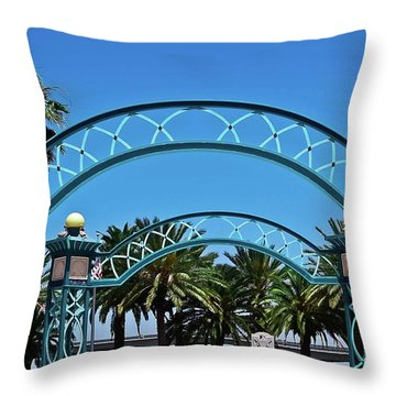 Crosswalk Of Valor Throw Pillow by DigiArt Diaries by Vicky B Fuller