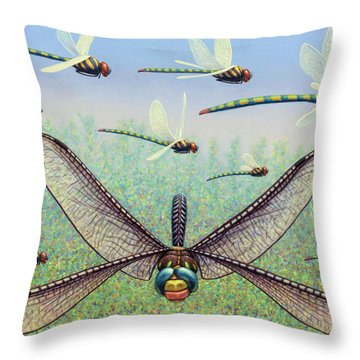 Throw Pillow featuring the painting Crossways by James W Johnson