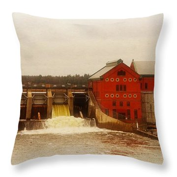 Croton Hydroelectric Plant Throw Pillow