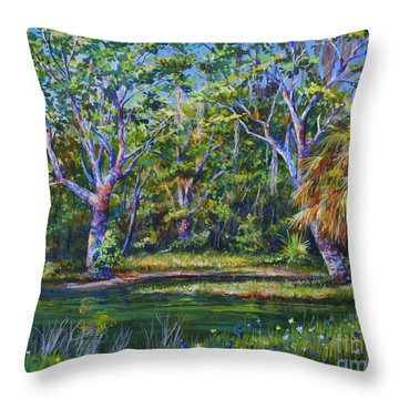 Croton Pond Throw Pillow