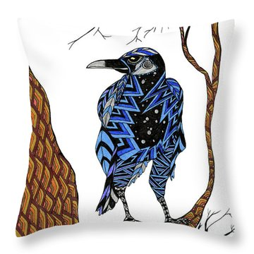 Crow Throw Pillow