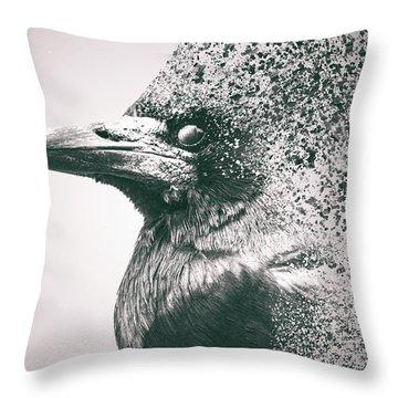 Crow Dispersion Throw Pillow